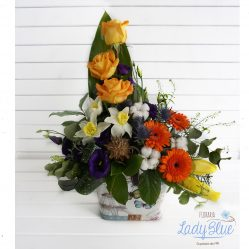 Aranjament floral in cutie AF18