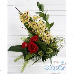 Aranjament floral in vas AF55