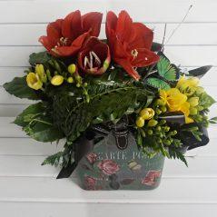 Aranjament floral in vas AF78