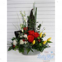 Aranjament floral in vas ceramic AF89