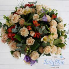 Buchet trandafiri si minirose B80