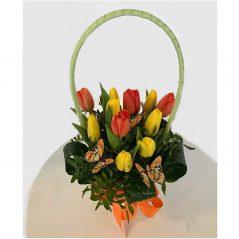 Aranjament floral lalele AF120