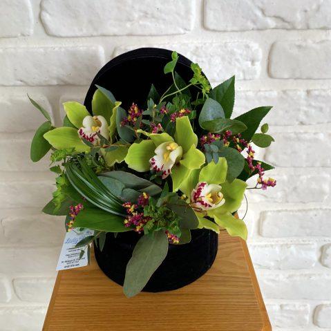 Aranjament in cutie cu orchidee AF 32