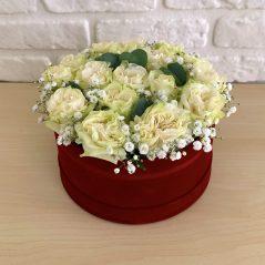 Cutie cu trandafiri albi AF17