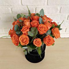 Cutie cu trandafiri portocalii AF25