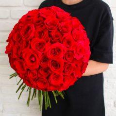 Buchet 65 trandafiri