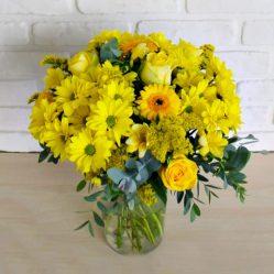 Buchet cu flori galbene  B53