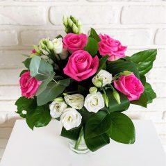 Buchet roz si alb B76