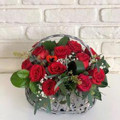 Cosulet cu trandafiri AF189