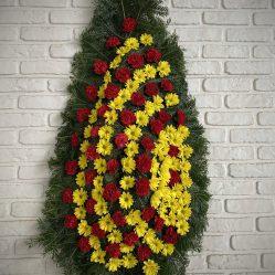 Coroana funerara cu crizanteme C162