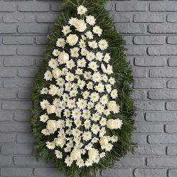 Coroana funerara cu flori albe C143