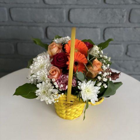 Cosulet cu flori colorate