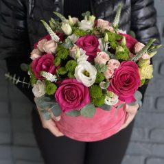 Flori roz in cutie AF 345