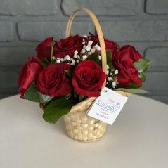 Cos cu trandafiri rosii AF 347