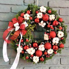 Coronita rosu-alb de Craciun