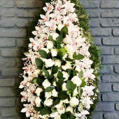Coroana funerara cu orchidee