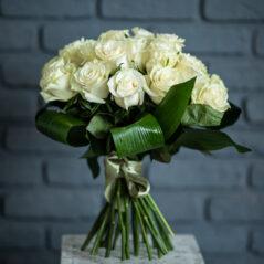 Buchet trandafiri albi B231