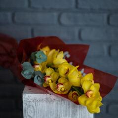 Buchet orchidee galbena