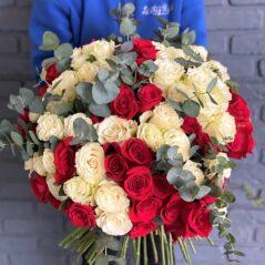 Buchet 91 trandafiri