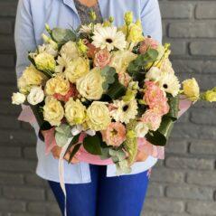 Cutie cu flori roz AF487